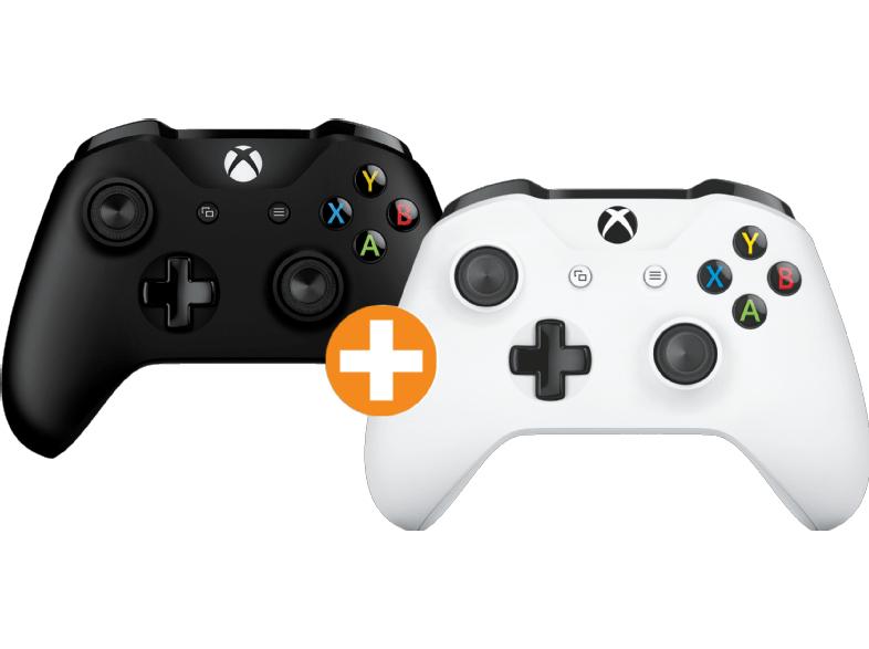 [Saturn] MICROSOFT Xbox One S Wireless Controller New Schwarz + Weiß für zusammen 61,-€