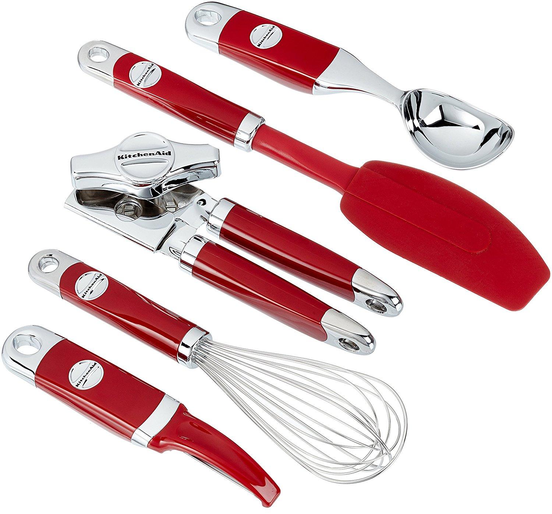 [www.AMAZON.de]  KitchenAid KM412ER Küchenhelfer-Set, Edelstahl, rot, 5 Einheiten, 30 x 25 x 20 cm statt € 80,-- nur € 23,75
