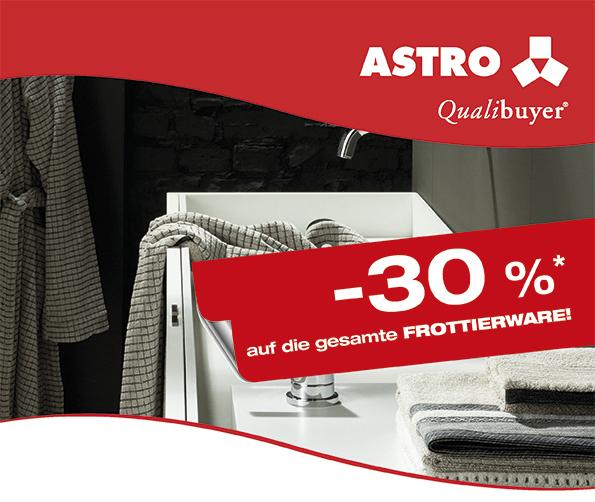 [Astro W/NÖ] Aktion: -30% auf die gesamte Frottierware