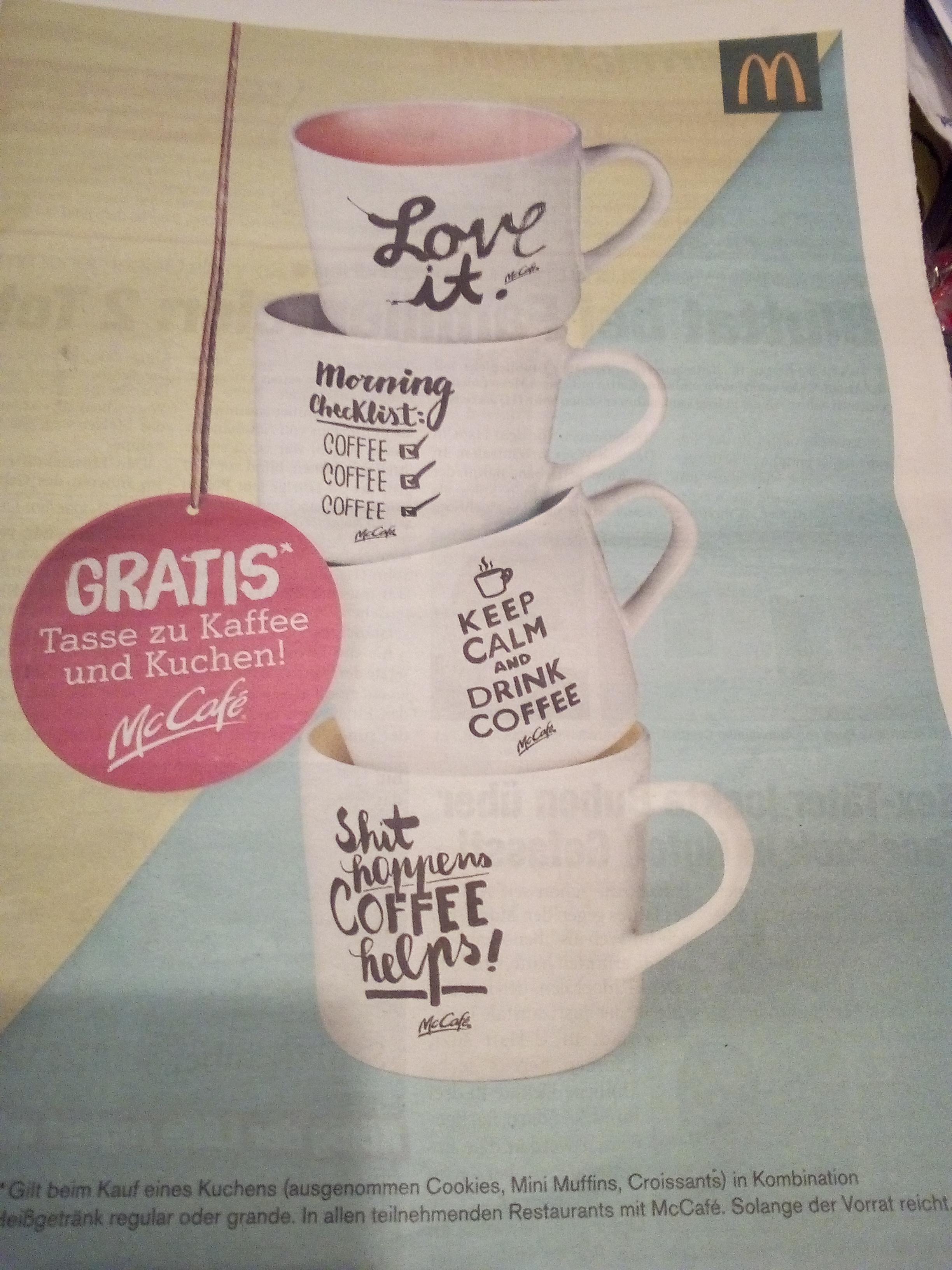 Gratis Kaffee-Tasse abstauben