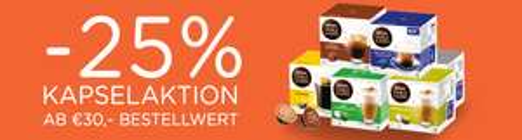 DOLCE GUSTO KAPSELAKTION -25%