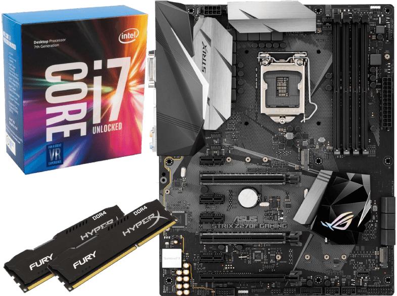 [mediamarkt.at] ASUS Strix Z270F Gaming + Intel Core i7-7700K + HyperX Fury 16GB für 589€ ( effektiv 559€ dank Cashback)