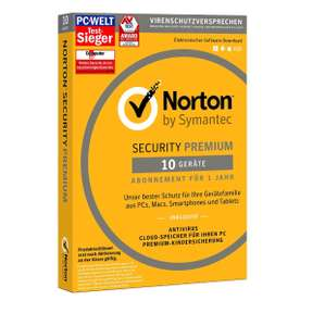 [amazon.de] SYMANTEC Norton Security Premium (10 Geräte - PC, Mac, Smartphone, Tablet)