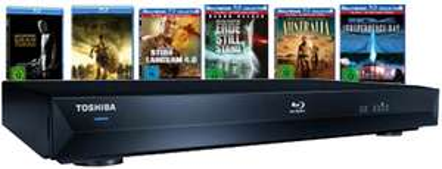 Blu-ray Player Toshiba BDX 2000 + 6 Blu-rays für 209€ - mit kleinem Preisfehler