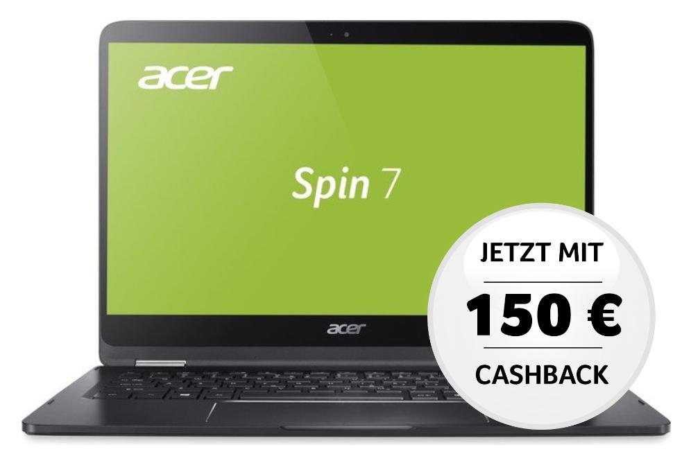 Acer Notebook / 2in1 / Convertible Cashback Aktion mit bis zu -150€ (Von Amazon über Conrad bis zu MediaMarkt/Saturn ...) bis 31.3.