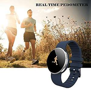 [AMAZON.de] >> Fitness Tracker << mit integrierter Herzfrequenzmessung am Handgelenk von Outry, wasserdichter Schrittzähler mit Anzeige von Schritten, Tagesziel, Kalorienverbrauch, Distanz, Schlafanalyse, Datum und Uhrzeit