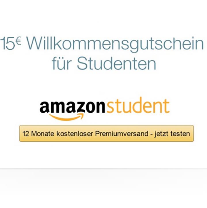 [AMAZON] 15€ Willkommensgutschein für Studenten