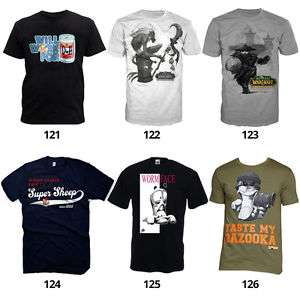 Gaming T-Shirts von Nintendo, Super Mario, CoD, Sonic, Donkey Kong, Sony u.v.m.