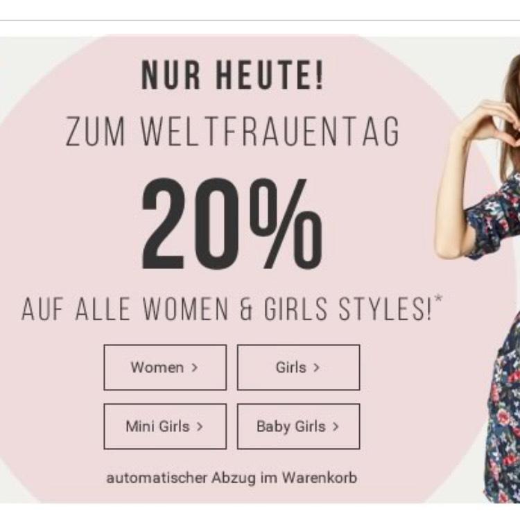 Heute -20% auf Damen und Girls Styles