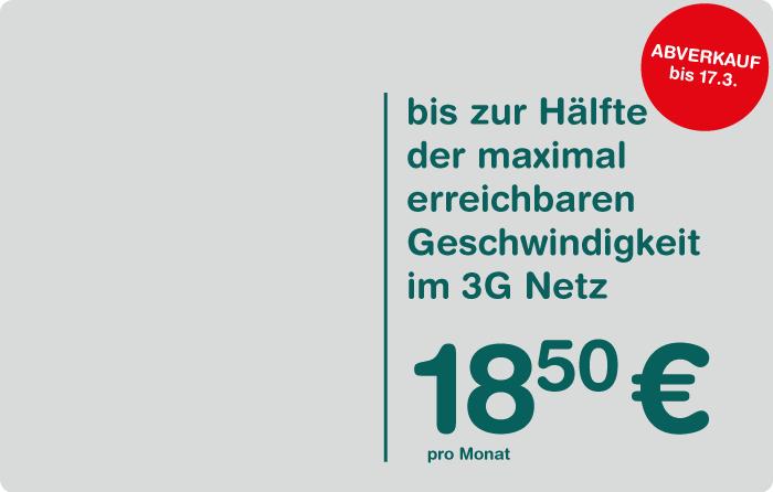 Spusu Datenflat im 3G Netz bis zu 21 MBit um 18,50 €