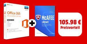 Microsoft Office 365 Personal und McAfee 2017 LiveSafe im Set kaufen