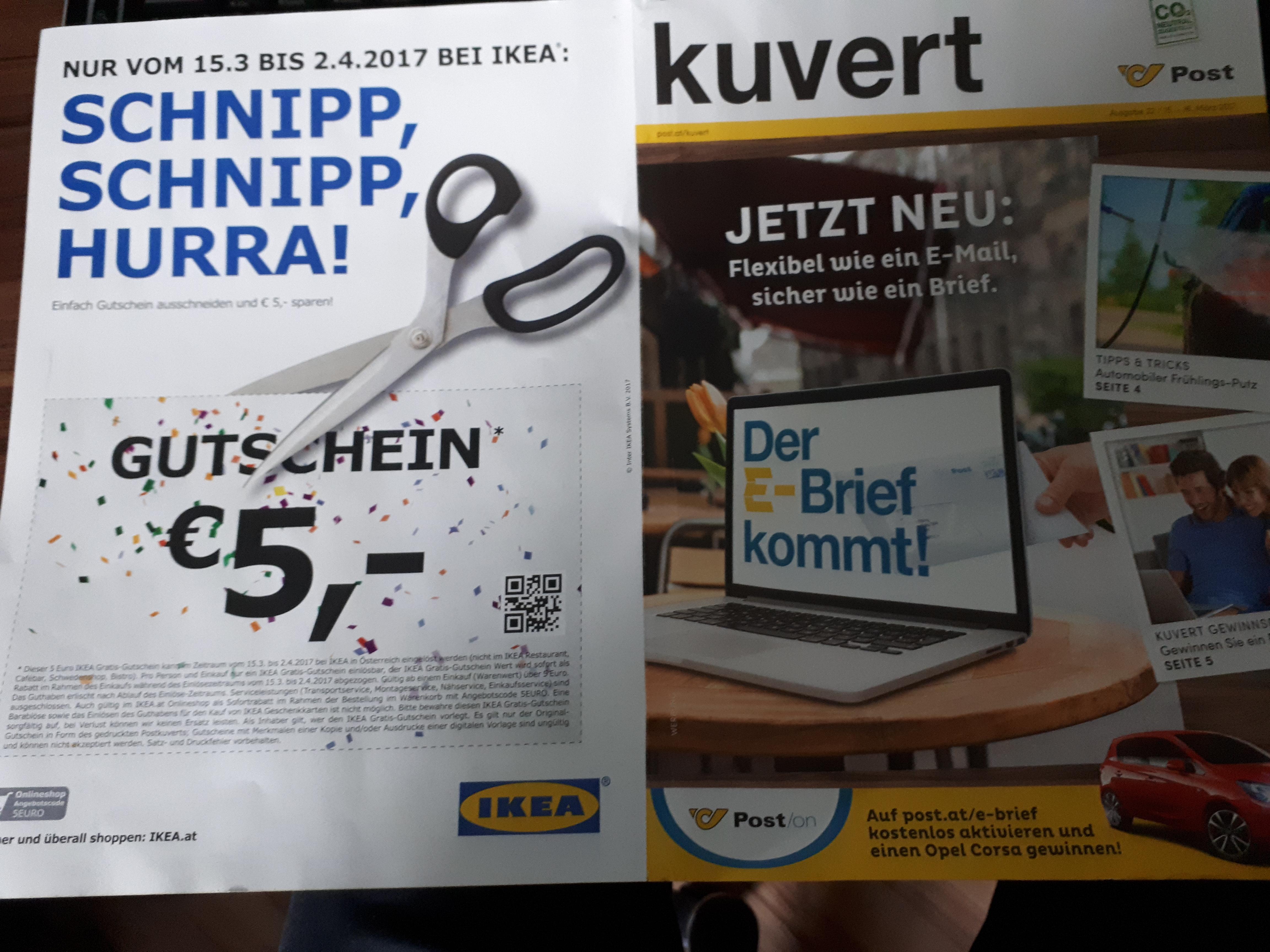 € 5,- Ikea Gutschein