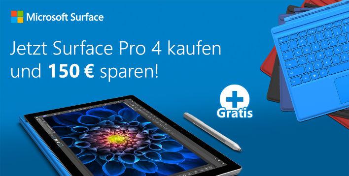 MICROSOFT SURFACE PRO 4 – 128 GB M um € 795,35 statt € 899,- - weitere VARIATIONEN AB 739,-