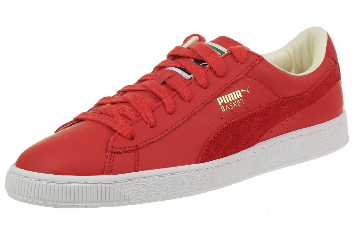 Puma Basket Classic UNISEX Sneaker rot mit Echtleder / für Herren:  26,99 € + 8,90 € VSK [statt 57,36 € ]