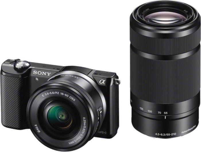 [Amazon.es] Sony Alpha 5000 Systemkamera Kit mit 16-50 mm + 55-210 mm für 451,74€ (statt €599)