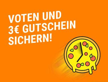 Lieferservice: Voten und 3€ Gutschein sichern (+ Chance auf 3.000€ Lieferservice Gutschein)