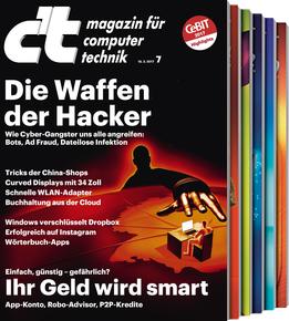 C'T 5 Hefte Testabo für effektiv 3 €