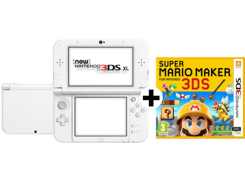 [Mediamarkt] NINTENDO New Nintendo 3DS XL Pearl White + Super Mario Maker für 178€
