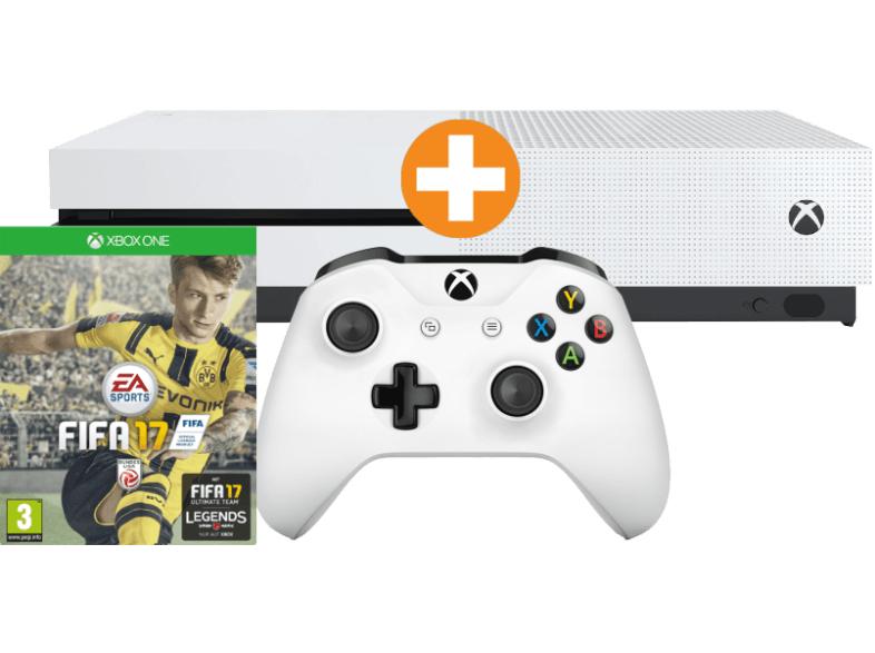 MICROSOFT XBox One S Bundle 500GB weiß mit FIFA 17 plus 2 Controller um € 259,- statt € 329,54