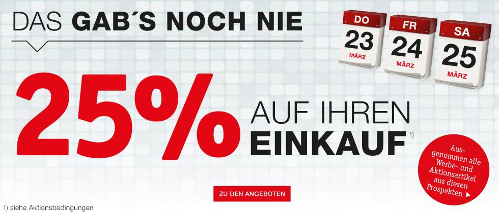 [XXXLutz] -25% auf Ihren Einkauf vom 23. bis 25.3.
