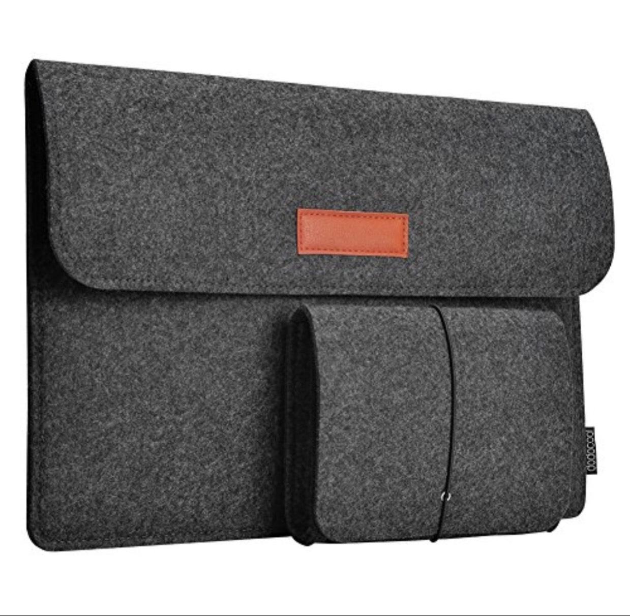 "[amazon.de] dodocool 13,3 Zoll Filz Sleeve Hülle Ultrabook Laptop Tasche für 13"" Macbook Air / Pro Retina 12,9 Zoll iPad Pro / Hell Grau & Dunkel Grau um 5,99 € !!"
