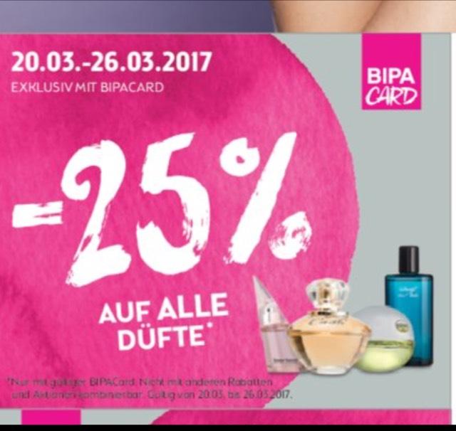 BIPA 25% auf alle Düfte