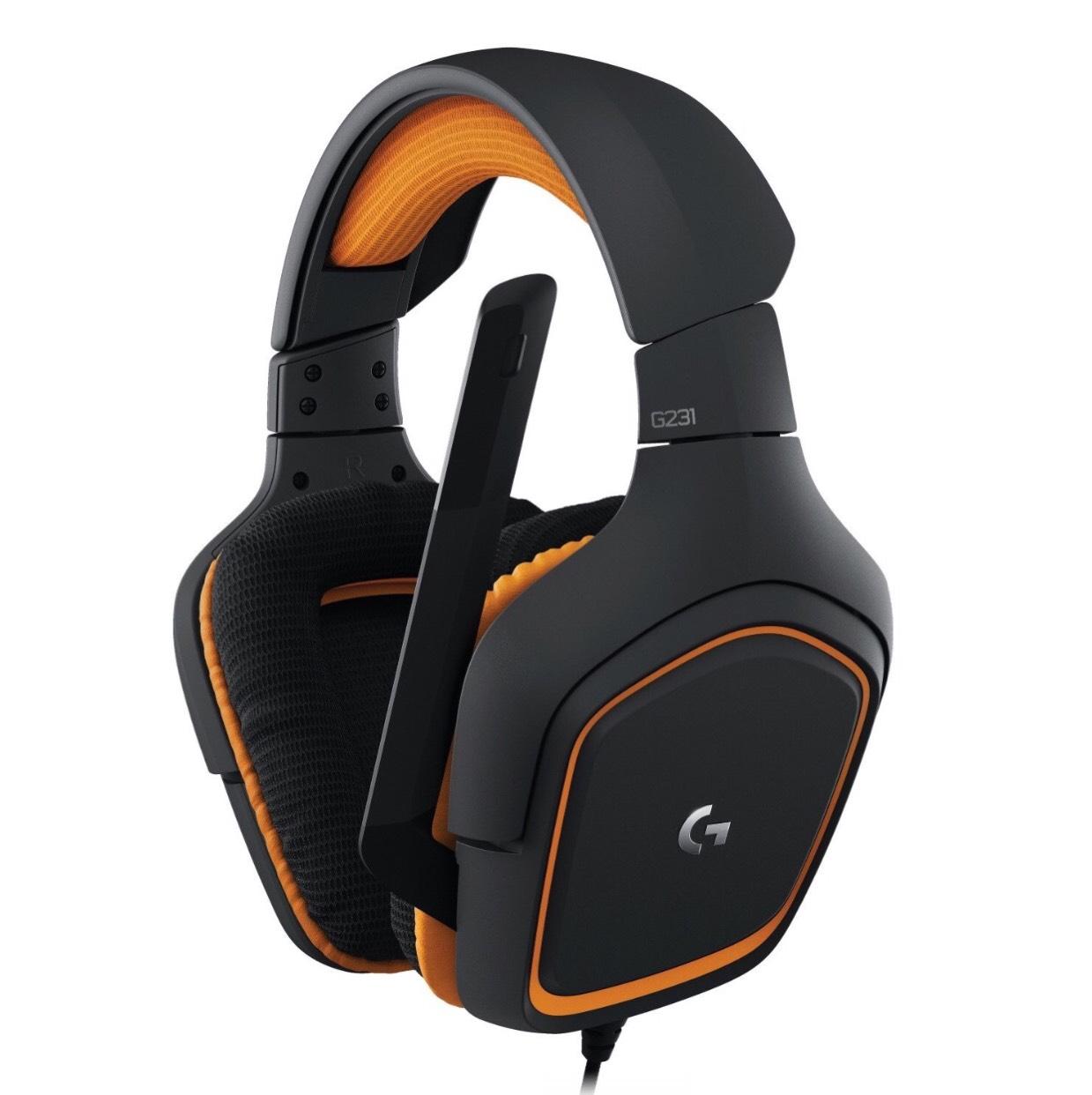 [amazon.de] Logitech G231 Prodigy-Gaming / Stereo Kopfhörer / Mikrofon (für PC, Xbox und PS4) Schwarz/Orange Angebot 37,49 €!!