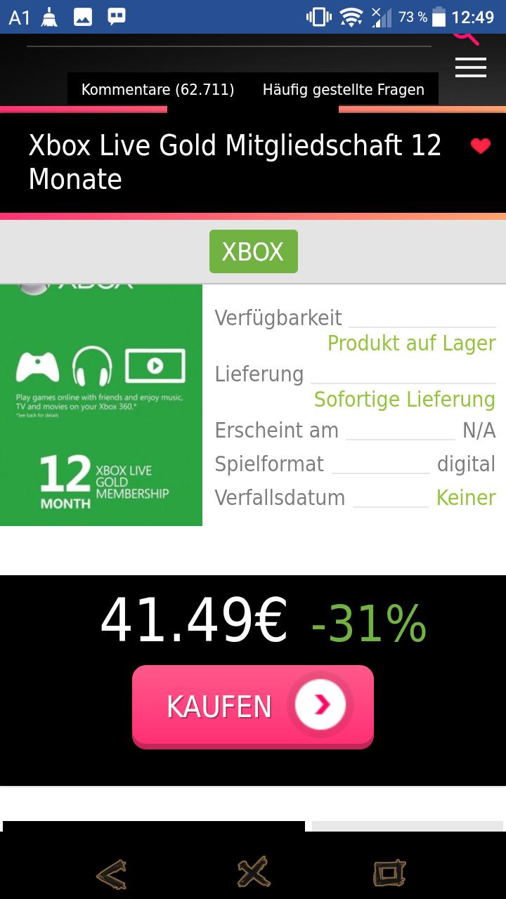 Xbox 12 Monat Gold