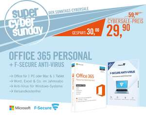 Office 365 Personal + F-Secure: Anti-Virus