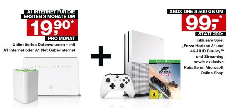 [A1] X-Box one slim 500Gb mit Forza Horizon 3 für 99€ bei Internet Neuanmeldung