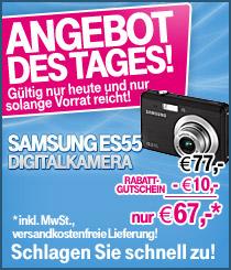 10 Megapixel Digitalkamera Samsung ES55 für 67€