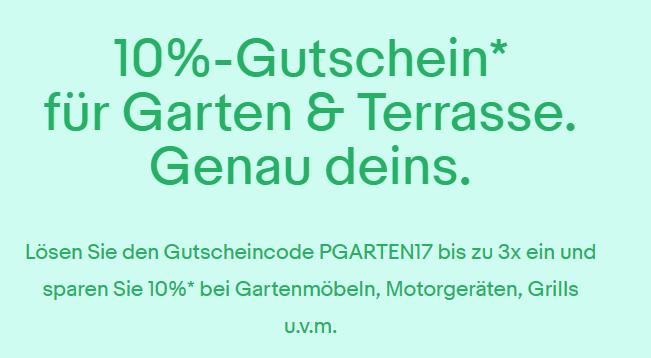[Ebay.de] 10%-Gutschein für Garten & Terasse