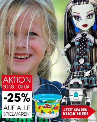Libro: 25% Rabatt auf Spielwaren (inkl. Lego) - nur vom 30. März bis zum 2. April