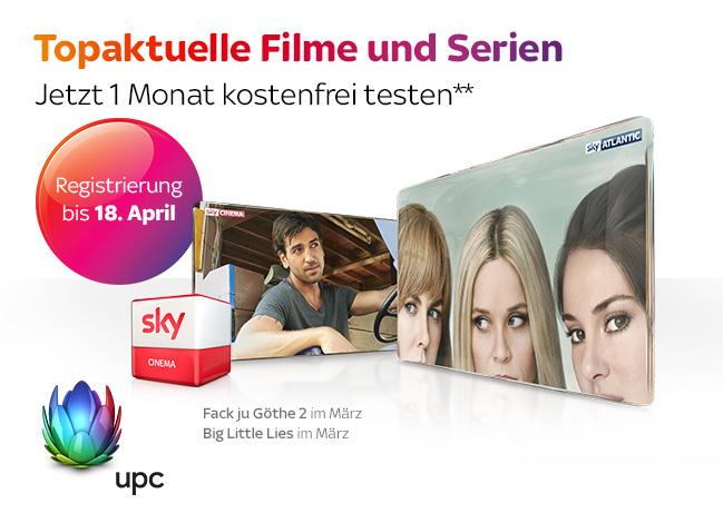 """UPC: """"Sky Cinema"""" - 1 Monat kostenlos (automatische Kündigung)"""