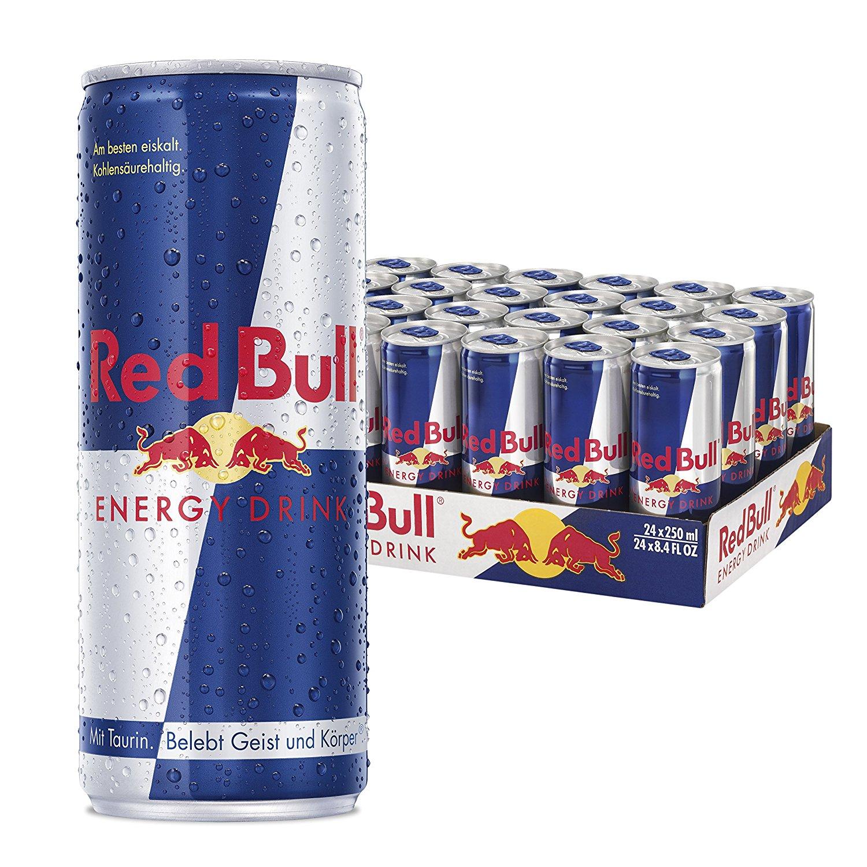 [www.AMAZON.de] Red Bull Energy Drink 24er Pack, Einweg (24 x 250 ml) für € 17.95 od € 20,23 (Dosenpreis € 0,71/0,84) als Spar-Abo für Prime-Mitglieder