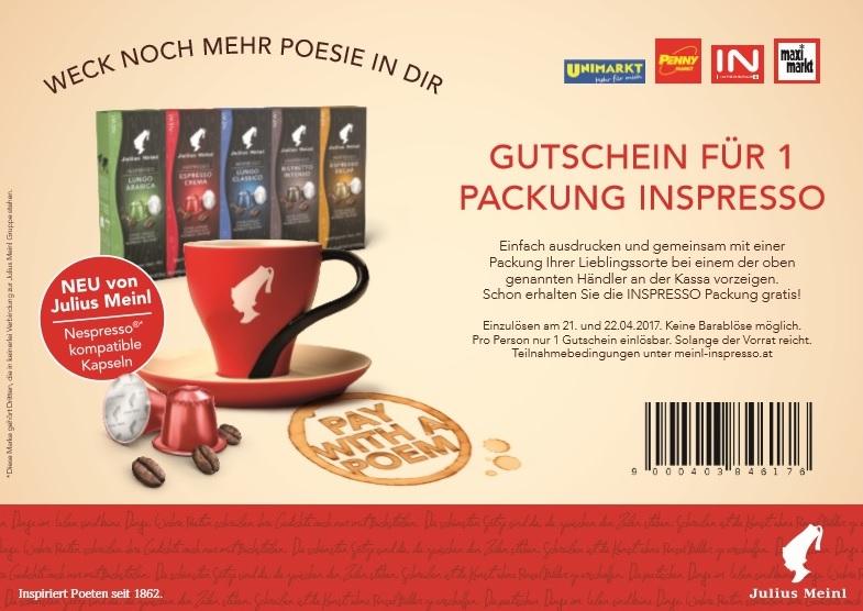 Inpresso - Nespresso kompatible Kapseln - 1 Packung Gratis mit Gutschein