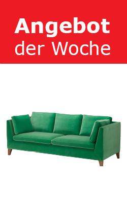 """IKEA Wien Vösendorf: """"Stockholm"""" 3er Sofa (grün) um 599 € - statt 1199 € - 50%"""