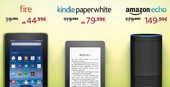 Oster-Angebote: -30€ auf Amazon Echo | -40€ auf Kindle Paperwhite und Kindle Voyage | -15€ auf Fire-Tablet
