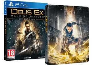 Media Markt: Deus Ex: Mankind Divided - Steelbook Edition (PS4 / Xbox One) für 9€