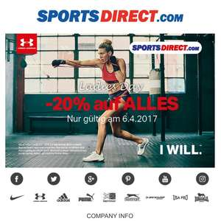 SportsDirect 20% am 06.04.