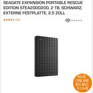 [saturn.de] SEAGATE EXPANSION PORTABLE RESCUE Edition 2 TB, Extern 2.5 ZOLL um 80,95 €