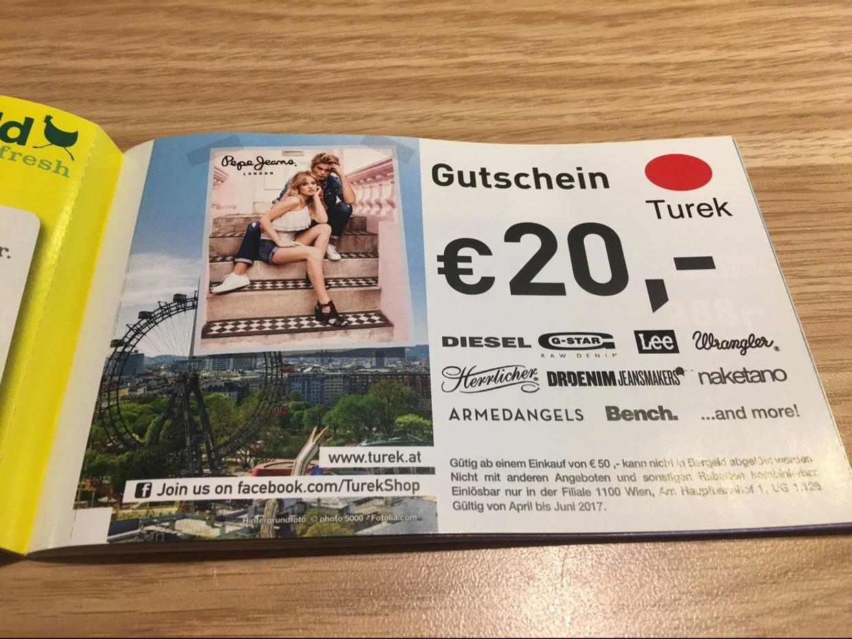 [TUREK Wien Hauptbahnhof] Ab 50,- € Einkauf erhält man satte 20,- € Rabatt!