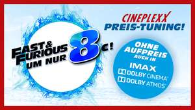 Fast and Furios 8 für 8 Euro