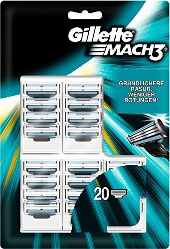 20x Gillette Mach3 Rasierklingen um 33 € - 34%