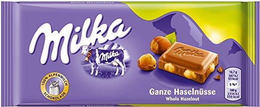 16x Milka Schokolade (ganze Haselnüsse) um 9,44 € - bis zu 50%