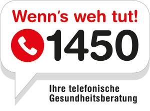 """(Info) Gratis-Gesundheits-Hotline """"1450"""" - in Wien, NÖ, Vorarlberg"""