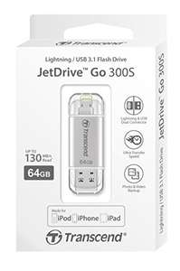 "Transcend ""JetDrive Go 300"" (64GB) USB 3.1/Lightning Stick um 45 € - 32%"
