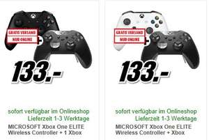 [Mediamarkt] MICROSOFT Xbox One ELITE Wireless Controller + Xbox One Wireless Controller New weiß oder Schwarz für je 123,-€