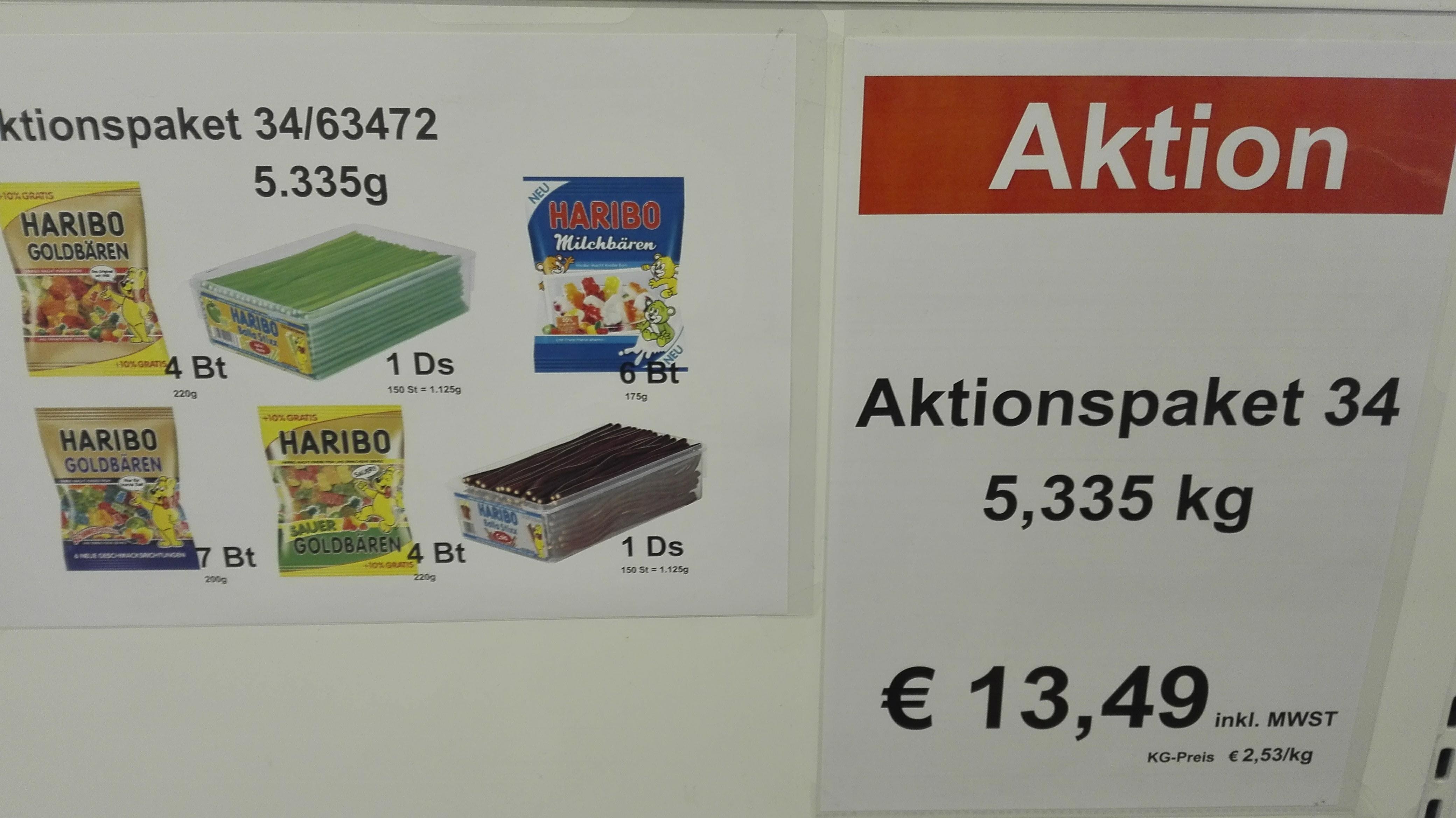 Original Haribo Preishammer - 2,53€ je kg