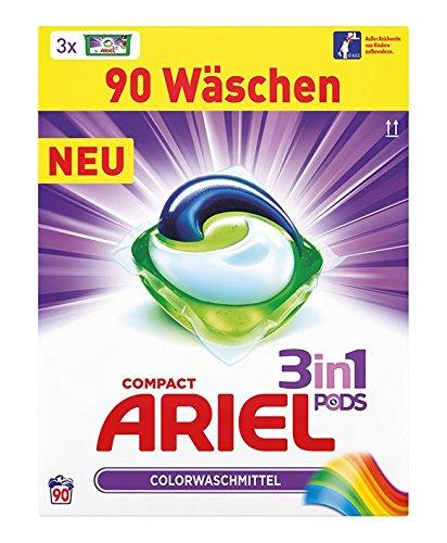 [www.AMAZON.de] Ariel 3in1 Pods Vollwaschmittel 90 Waschladungen für Prime Kunden € 15,12 [0.17 Cent pro Waschgang]